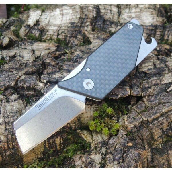 Kershaw Messer PUB CARBON Taschenmesser Cutter 8Cr13MoV Stahl Friction Folder