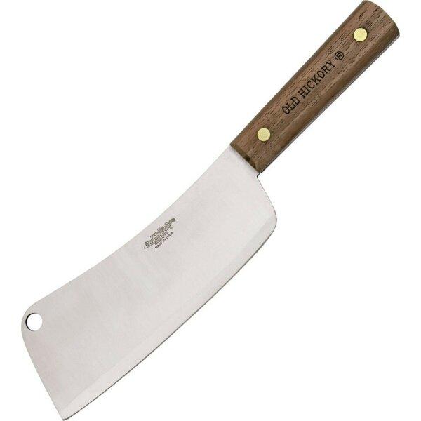 Old Hickory Messer CLEAVER Küchenmesser Chopper Kohlenstoffstahl Hickoryholz