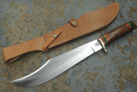 Rough Rider Bowie Stacked Leather Messer Outdoormesser...