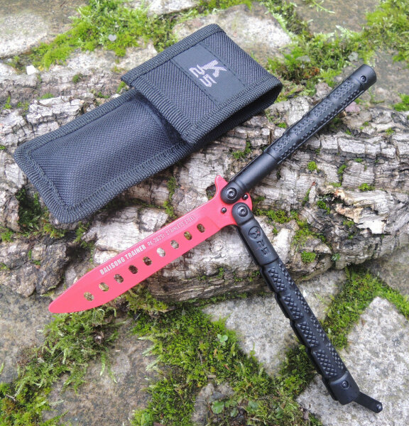RUI K25 Butterfly Trainer RED Balisong Übungsmesser STUMPF Trainingsmesser 36251