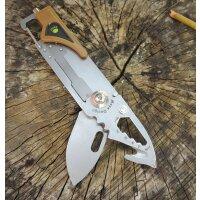 Sanrenmu Messer 6050LUF-PV-T4 COYOTE Taschenmesser...