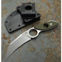 Sanrenmu S615-1 Messer EDC 8Cr14MoV Stahl G10 Griff Scheide