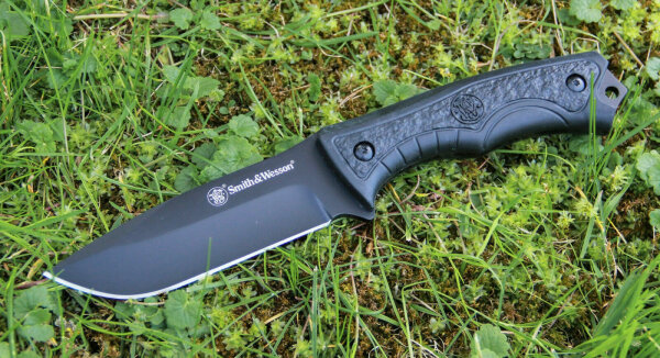 Smith & Wesson COUNTDOWN Messer Fixed Blade 8Cr13MoV Stahl TPE Griff Scheide