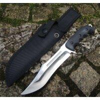S-TEC BLACK BOWIE Messer Outdoormesser Fahrtenmesser G10...