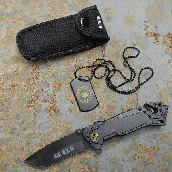 Albainox SEALS Rescue Knife Messer Rettungsmesser Gurtschneider Glasbrecher Etui