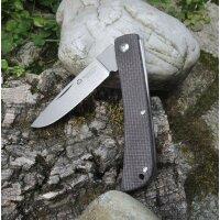 Maserin SCOUT 163 GREY MICARTA Slipjoint Messer D2 Stahl Micartagriff 01MA106