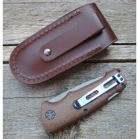 Walther Messer BWK 2 Blue Wood Knife Zweihandfolder 440C...