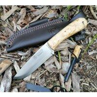 Joker MONTANERO SCANDI Bushcraft Messer 14C28N Stahl Maserbirke Feuerstarter