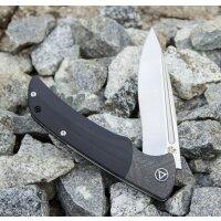 QSP Knife HARPYIE QS129B Messer S35VN Stahl G10 / Kohlefasergriff Kugellager