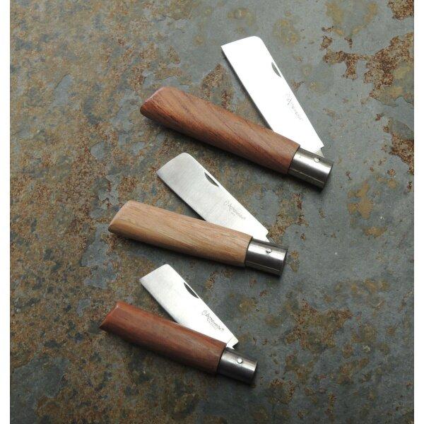 Extremena Brotzeitmesser INOX Pilzmesser  Gartenmesser Holzgriff 3 Größen