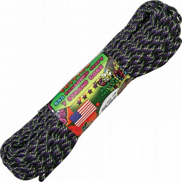 (0,36€/m) Paracord Seil Undead Zombie 30,48 Meter 7 Strang 550 lbs Zuggüte