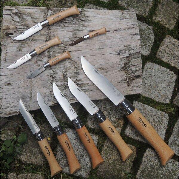 Opinel Messer rostfrei INOX Stahl französisches Taschenmesser versch. Größen