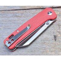 QSP Knife PENGUIN QS130D Messer D2 Stahl Leinen Micarta Copper Washer Gürtelclip