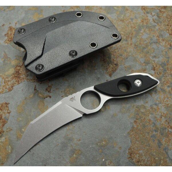 Sanrenmu Outdoormesser S615 Messer EDC 8Cr14MoV Stahl G10 Griff ABS Scheide