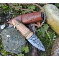 Condor ÖTZI KNIFE Messer Hommage Jagdmesser 1095 Stahl Holzgriff Lederscheide
