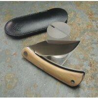 Fox Knives LIBAR OLIVE Messer Slipjoint M390 Stahl Olivenholzgriff Lederetui