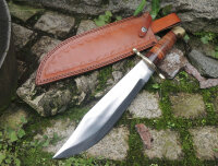 Marbles STACKED LEATHER BOWIE Messer Jagdmesser...