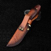 QSP Knife Erised I Messer Jagdmesser Lederscheide 9Cr14MoV Stahl Rosenholzgriff