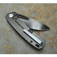 QSP Knife PUFFIN QS127A Messer S35VN Stahl Titan-Kohlefasergriff Kugellager