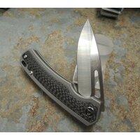 QSP Knife PUFFIN QS127B Messer S35VN Stahl Titan-Kohlefasergriff Kugellager