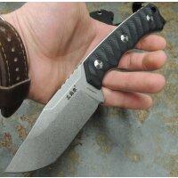 SanRenmu Messer S738 Fahrtenmesser 8Cr13MoV Stahl G10 BLACK Scheide