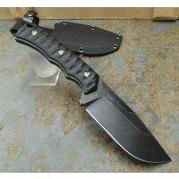 SanRenmu Messer S738-1 Fahrtenmesser 8Cr13MoV Stahl G10 BLACK Scheide