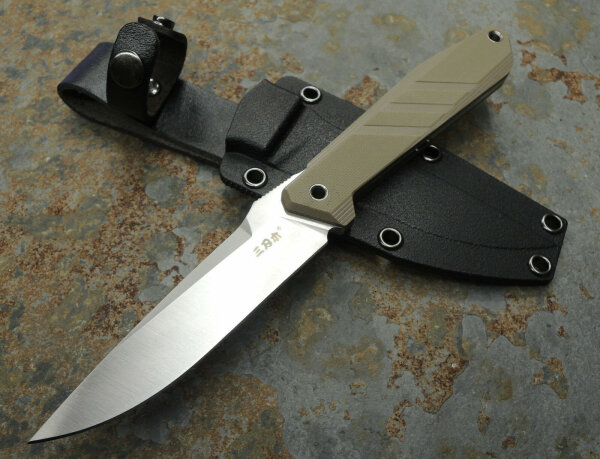 SanRenmu S758-2 coyote Messer Fixed Blade 8Cr14MoV Stahl G10 Griff