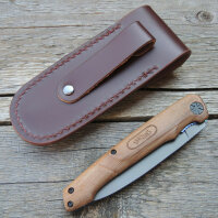 Walther Messer BWK 1 Blue Wood Knife Zweihandfolder 440C Stahl Walnussholz