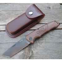 Walther Messer BWK 4 Blue Wood Knife Zweihandfolder 440C...