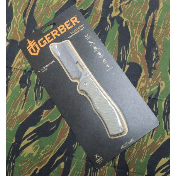 Gerber Flatiron Messer Taschenmesser 7Cr17MoV Stahl G10 Griff Linerlock Folder