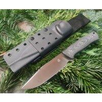 QSP Knife BISON Messer Outdoormesser D2 Stahl Micarta...