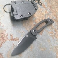 SanRenmu Messer 7132FUI-GH Fixed Blade Neck Knife Kydexscheide