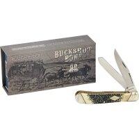 Rough Rider Trapper Buckshot Bone Messer Slipjoint 440 Stahl Knochengriff