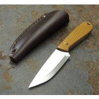 Brisa Necker 70 Sc EDC Messer 12C27 Stahl Mustard Micarta...