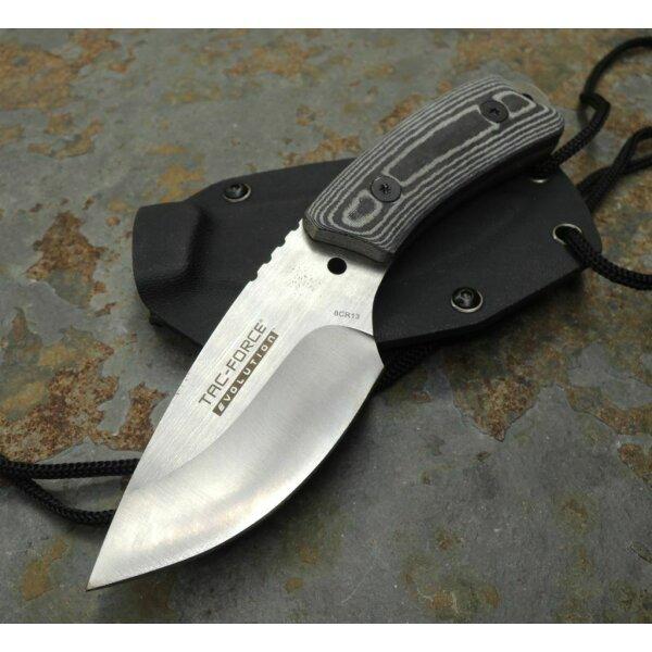 Tac Force EVOLUTION Messer Neck Knife EDC 8Cr13 Stahl Micarta Kydexscheide
