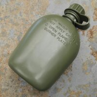 US Feldflasche 1L Bundeswehr BW Trinkflasche mit...