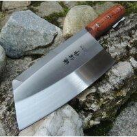 Chinesisches Kochmesser Küchenmesser Fleisch-, Fischmesser Holzgriff Edelstahl